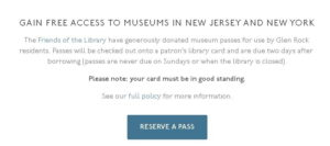 Start here for Museum Pass Reservations