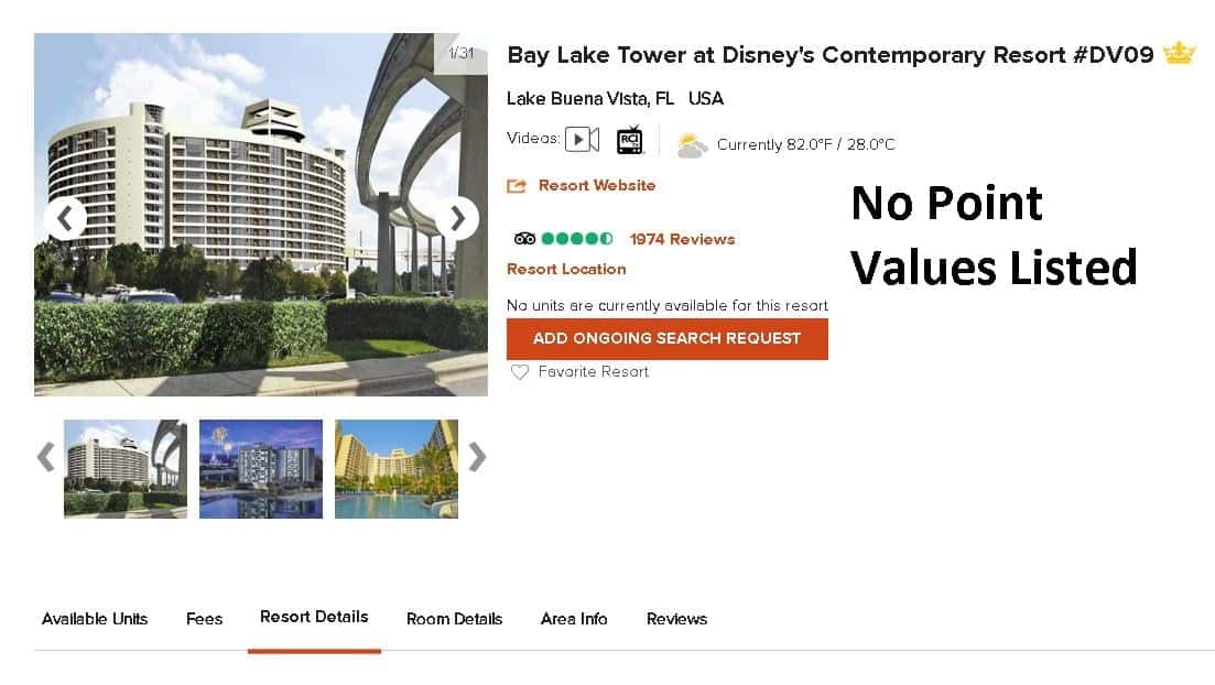 RCI Resort Directory DVC Bay Lake Tower Listing