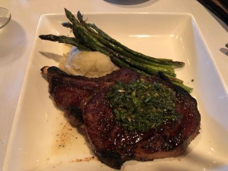 Steak at Mohawk Mountain House
