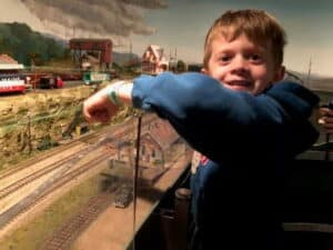 My Little Train Expert Loving the Model Train Show