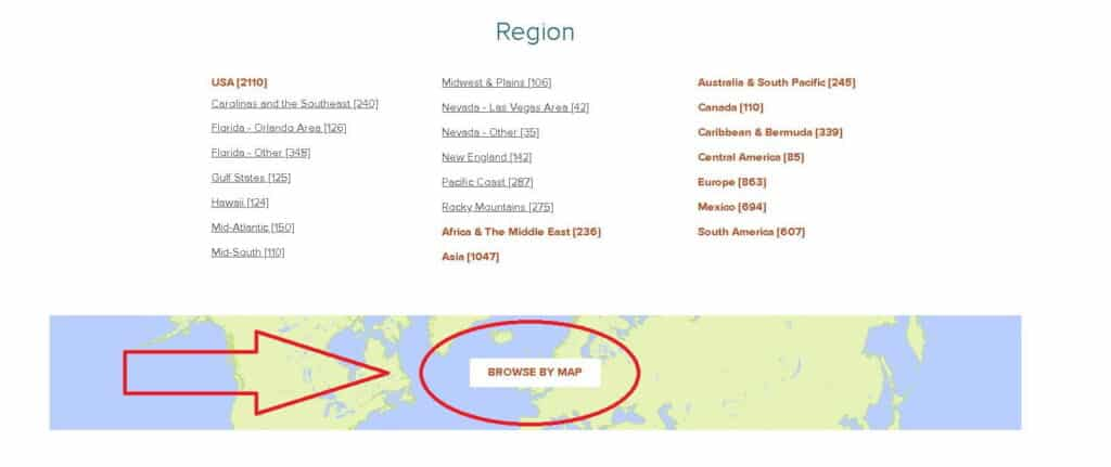 RCI Resort Directory Browse by Map Feature